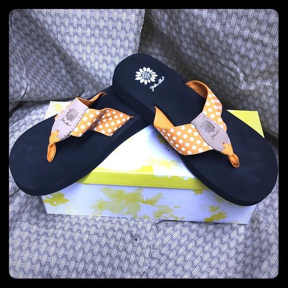 Yellow Box Shoes  Orange White Polka Dot  Poshmark-4953