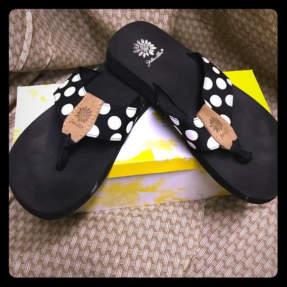 59 Off Yellow Box Shoes - Black And White Polka Dot Yellow Box From Whiseys Closet On Poshmark-6411