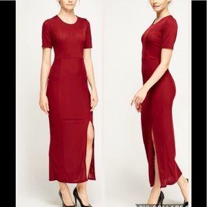 NWT Burgundy Maxi Dress Sz 6