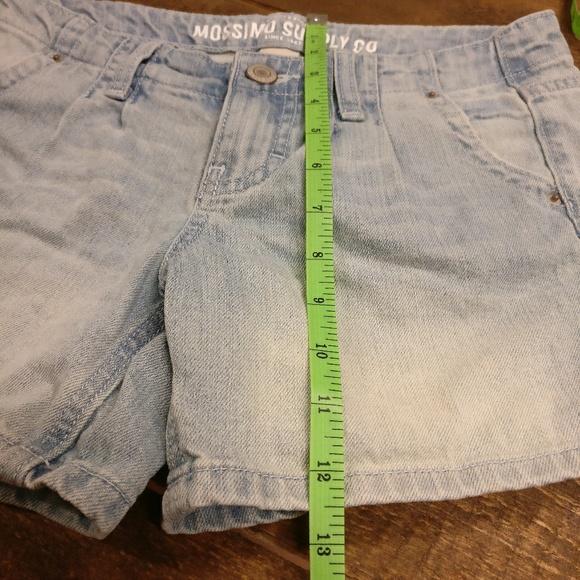 Mossimo Supply Co. Shorts - Mossimo Pleated Light Denim Jean Shorts