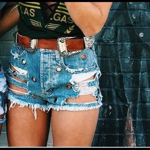 Carmar Pants - LF denim shorts