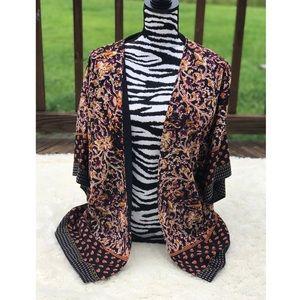 Liz Claiborne Patterned Kimono