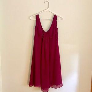 After Six Dresses & Skirts - Fuchsia chiffon midi dress
