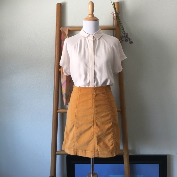 5ffe92d4cf Free People Dresses & Skirts - Free People Corduroy Modern Femme Mini Skirt