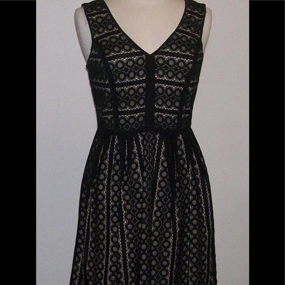 Loft Nwt Ann Taylor Loft 2p 2 Petite Black Lace Dress