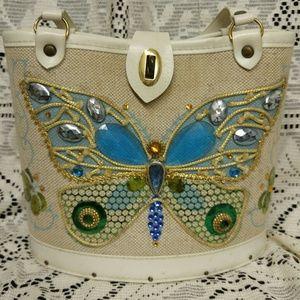 Vintage Handbags - Vintage Butterfly Bucket Bag