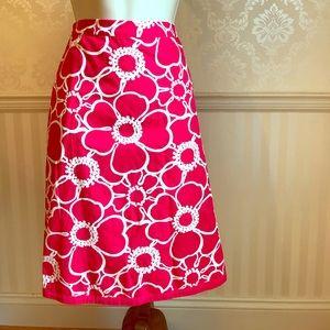 Boden Dresses & Skirts - Boden Bright Pink & White Floral Skirt