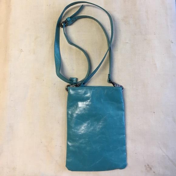 Shiraleah Handbag Harper Cross Body Pouch Distressed Vegan Leather Aqua NWT