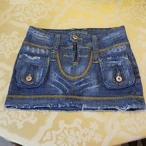 F X2 Jeanswear mini skirts size. Clear out closet!