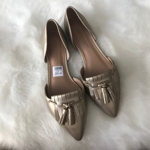 Christian Siriano Shoes - •new• gold tassel flats