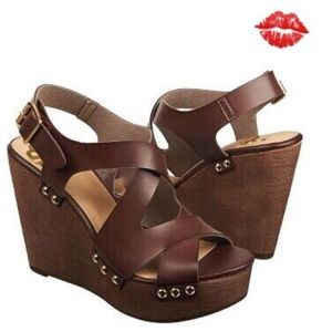 Fergalicious by Fergie Shoes - Fergalicious Wedge Brown Sandal by Fergie 💋