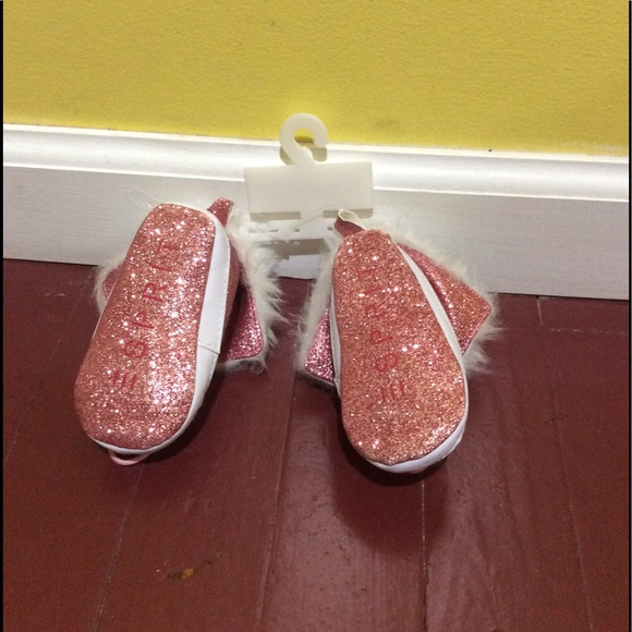 Esprit Pink Glitter Covered Fur Lined Esprit Girls Shoes