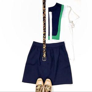 J. Crew Navy Blue Mini Skirt