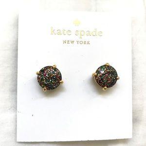 kate spade Jewelry - Kate Spade Black Multi Glitter Earrings