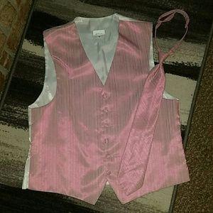 Men's Bubble Gum Pink Red Sieeva Vest