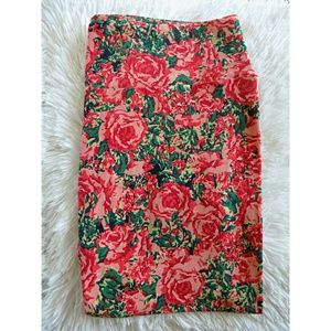 LuLaRoe Pants - LulaRoe TC Pink Rose Leggings