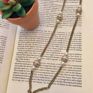 J. Crew Jewelry - J. Crew • Blush Bobble Long Necklace