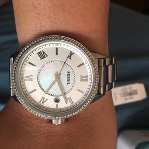Fossil Accessories - ONE DAY SALE!BRAND NEW IN BOX SILVER FOSSIL WATCH
