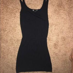 Stretchy basic black tank H&M dress