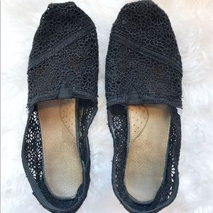 Toms Shoes - Black Crocheted TOMS