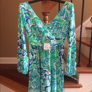 1d83cf4c195abe Lilly Pulitzer Dresses - NWT Lilly Pulitzer fleur dress agate green