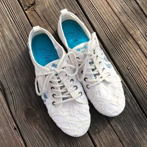 Blowfish Shoes - Off White Lace Blowfish Sneakers