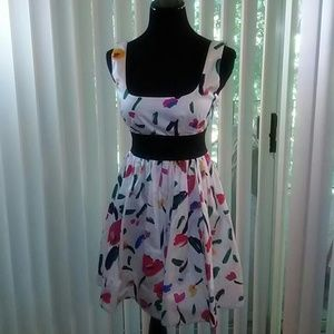 Necessary Objects Dresses & Skirts - Multi-color Skater dress Size Large