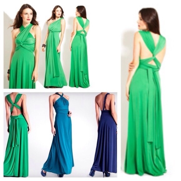 Von Vonni Dresses Emerald Infinity Transformer Dress Poshmark