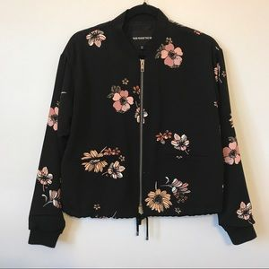 who what wear Jackets & Blazers - Floral bomber jacket.