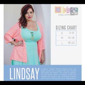 LuLaRoe Sweaters - NWOT LuLaRoe Lindsay Coral Cardigan Kimomo Large