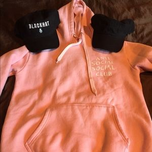 Anti Social Social Club Sweaters - Pink Anti Social Club Hoodie