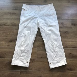 Lands' end cropped pants Ivory Sz 8