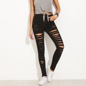 Ripped High Waisted Black Jeans - Fashion Nova