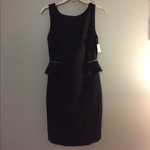 NWT Zara Peplum Low-back Dress