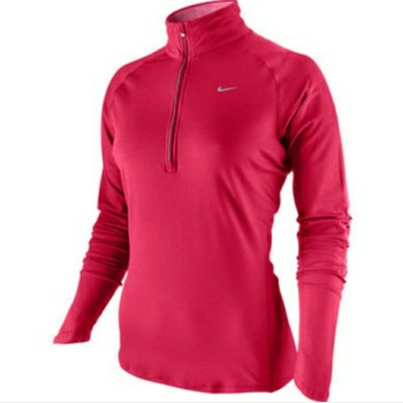 30 off nike tops nwt nike dri fit element half zip pullover pink from stephanie 39 s closet on. Black Bedroom Furniture Sets. Home Design Ideas
