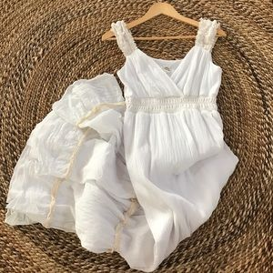 Sangria Dresses & Skirts - White and Cream Sangria Crinkled Dress