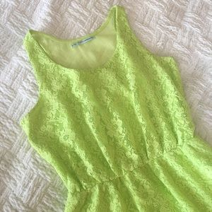 Maurices Dresses & Skirts - Maurices Neon Green Lace Dress