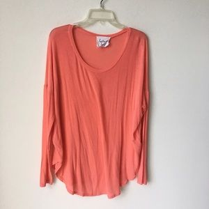 Tops - Super Soft Pink Peach Long Sleeve Comfy Top