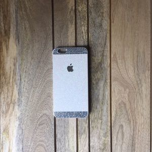 Accessories - White Glitter Rhinestone iPhone 6 Case