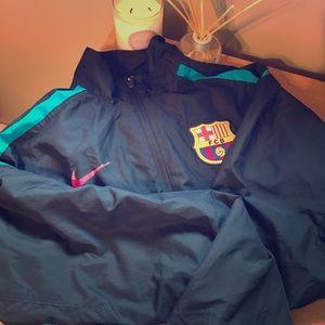 Unisex Barcelona Football Windbreaker