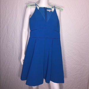 Adelyn Rae Dresses & Skirts - Blue cutout detail spaghetti strap fit & flare