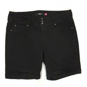 torrid Pants - Torrid black Bermuda shorts