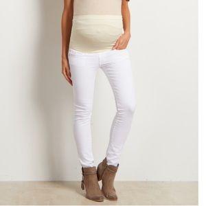 Pink Blush Maternity Denim - Pink Blush White Maternity Jeans