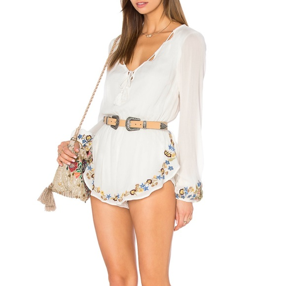 374347f9e48b Free People Dresses   Skirts - Band of gypsies floral embroidered romper