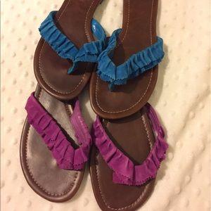 Colin Stuart ruffle sandal