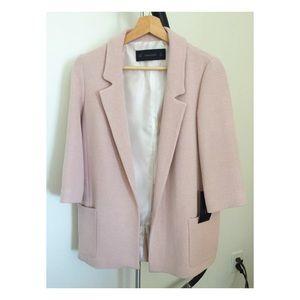 Zara Jackets & Blazers - Pastel Pink Blazer