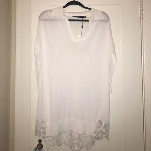 Karen Millen Tops - Karen Millen White Tunic