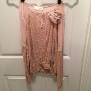 Aniina Tops - Long sleeve light pink blouse from boutique - M