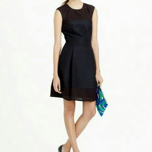 J. Crew Dresses & Skirts - NEW J.Crew black perforated A-Line dress 16T