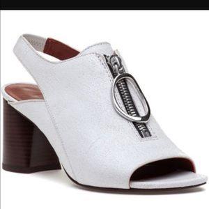 3.1 Phillip Lim Shoes - 3.1 Phillip Lim White Zip Front Drum Sandal